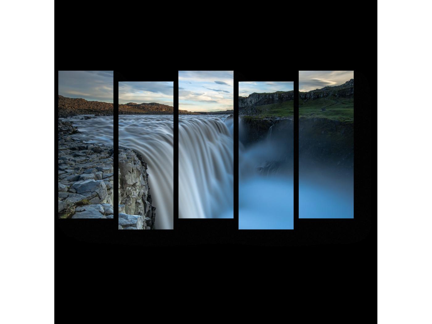 Модульная картина Неземная красота водопада (90x52) фото