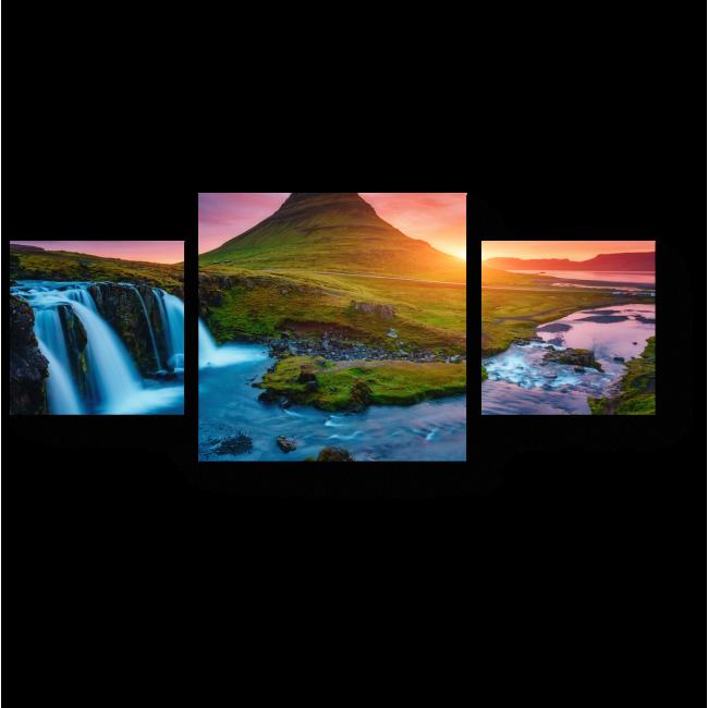 Модульная картина Красочный рассвет, Исландия