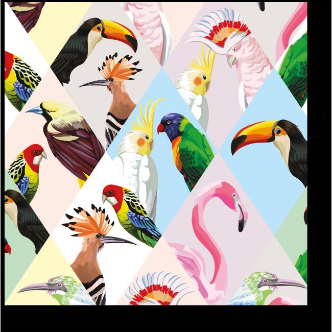 Модульная картина Тропические птицы