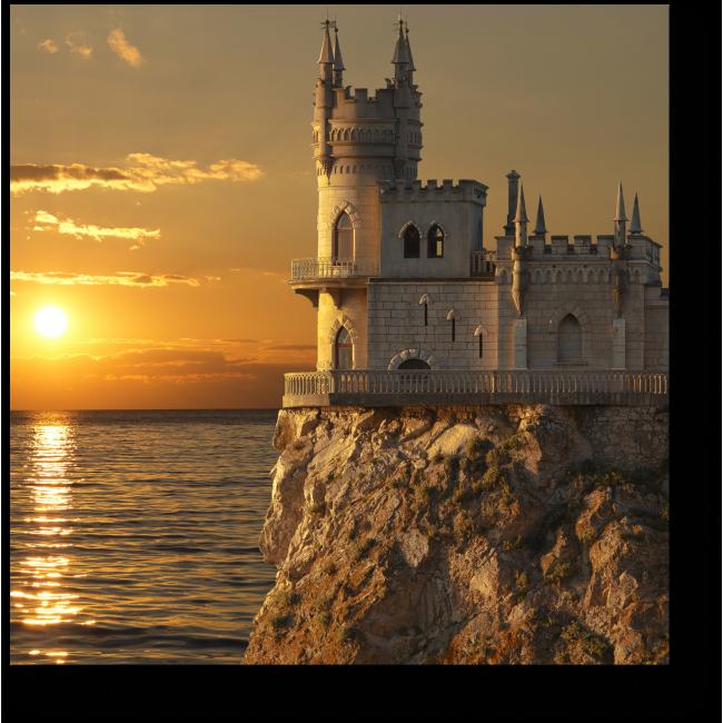 Модульная картина Swallow's Nest castle