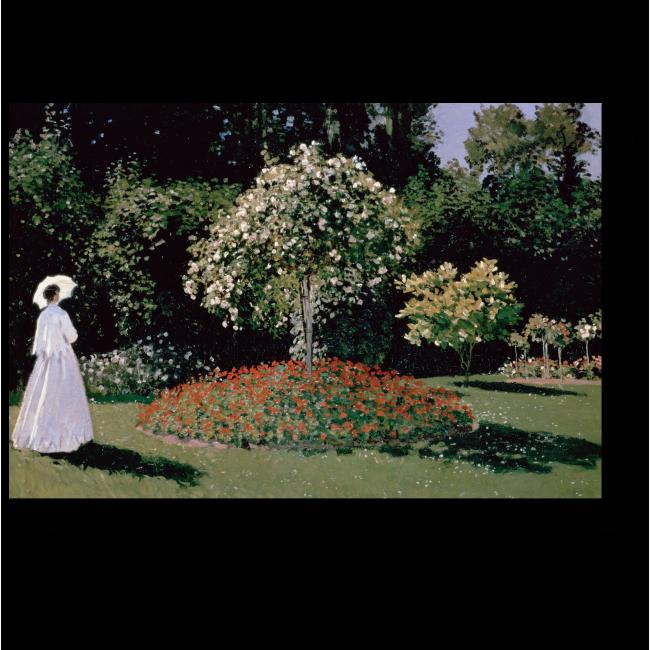 Модульная картина Женщина в саду. Сент-Андресс