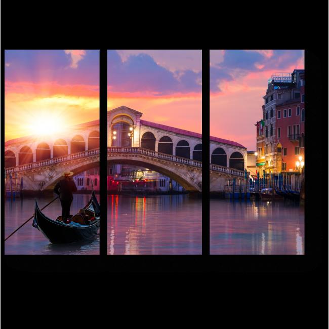 Модульная картина Мост Риальто в Венеции