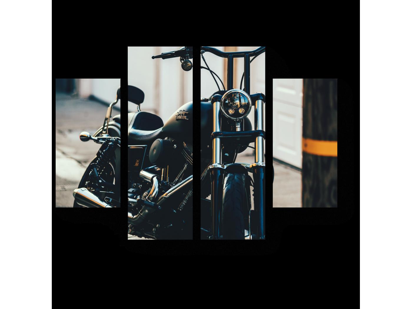 Модульная картина Мечта байкера (80x60) фото