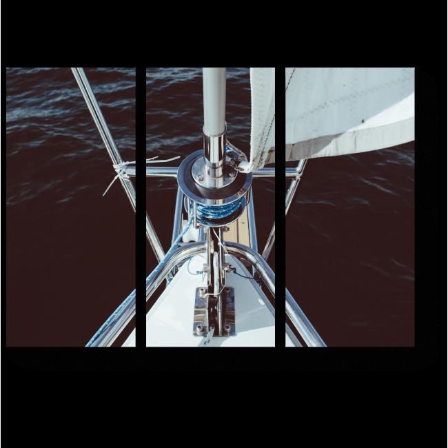 Модульная картина Разрезая морскую гладь