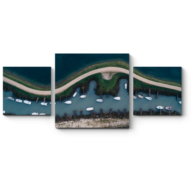 Модульная картина Гонка морских судов