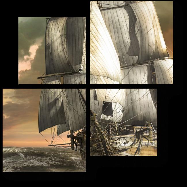 Модульная картина Морское путешествие