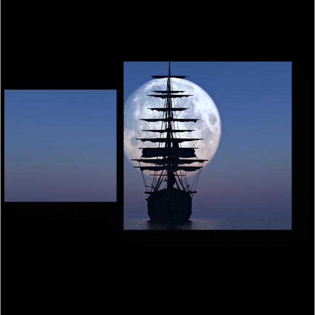 Модульная картина Полная луна