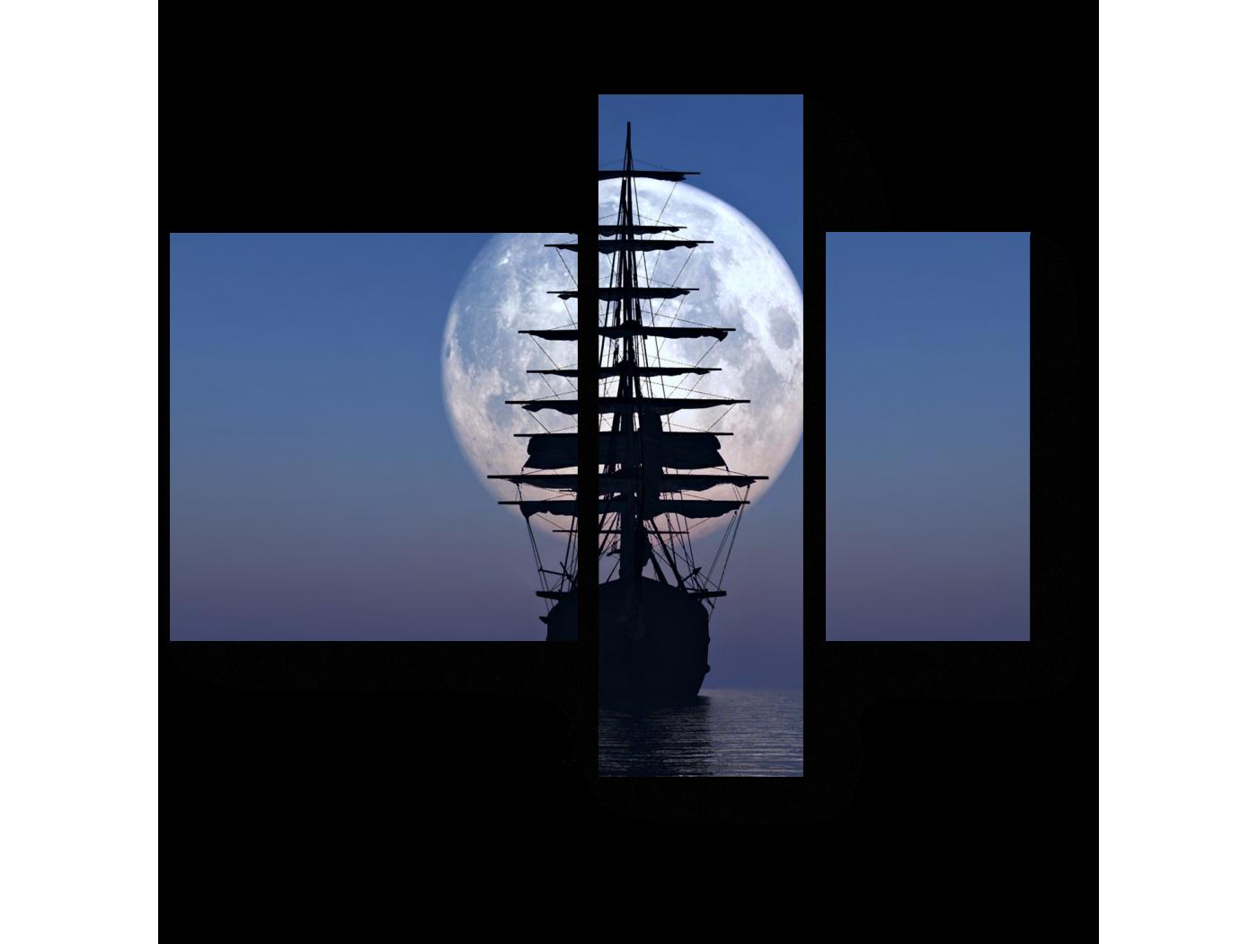 Модульная картина Полная луна (80x66) фото