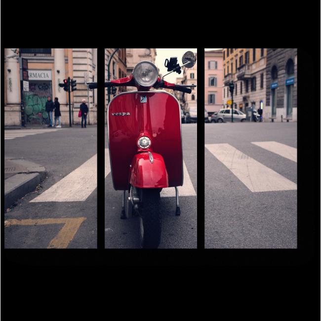 Модульная картина Городской житель