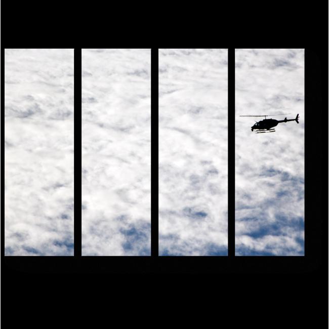 Модульная картина Летящий в облаках