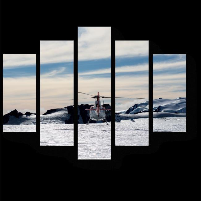 Модульная картина Мягкая посадка