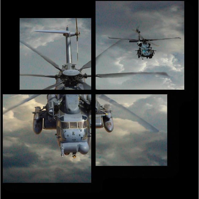 Модульная картина Вертолеты