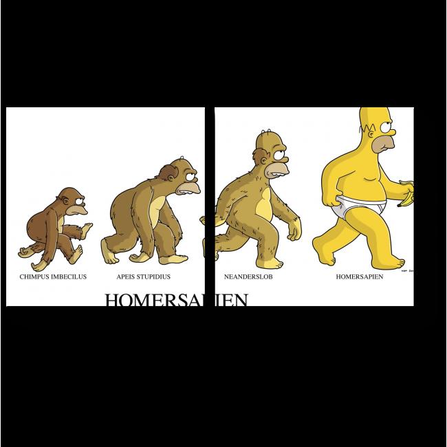 Модульная картина Эволюция Гомера