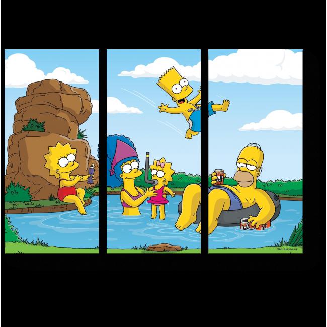 Модульная картина Симпсоны