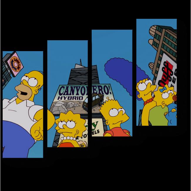 Модульная картина Симпсоны путешествуют