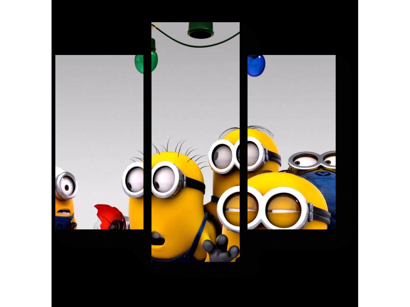 Модульная картина Новогодний переполох (60x54) фото