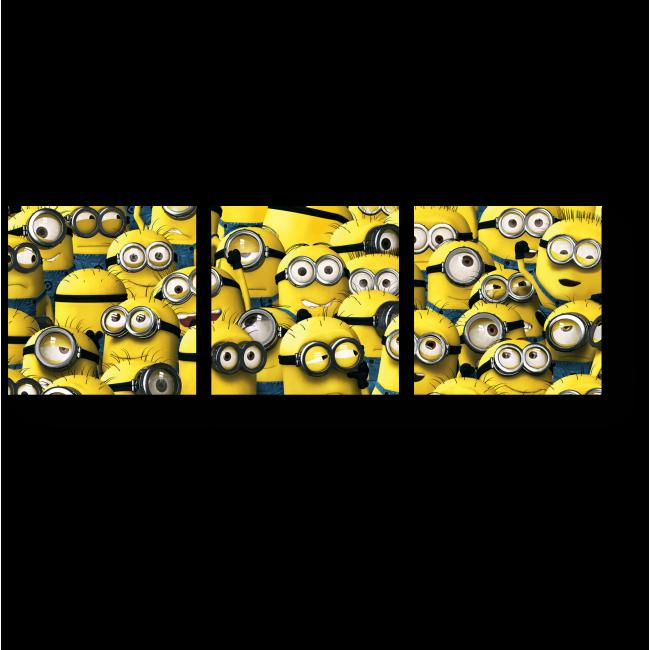 Модульная картина Милые миньоны