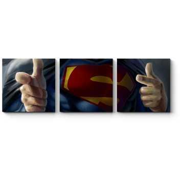 Модульная картина В каждом Супермене живет Бэтмен
