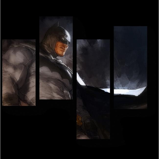 Модульная картина Бэтмен во тьме