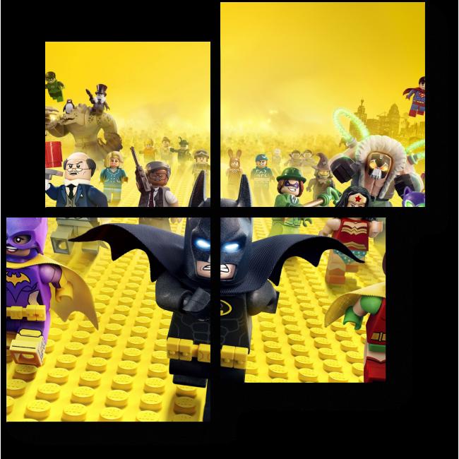 Модульная картина Лего - мир