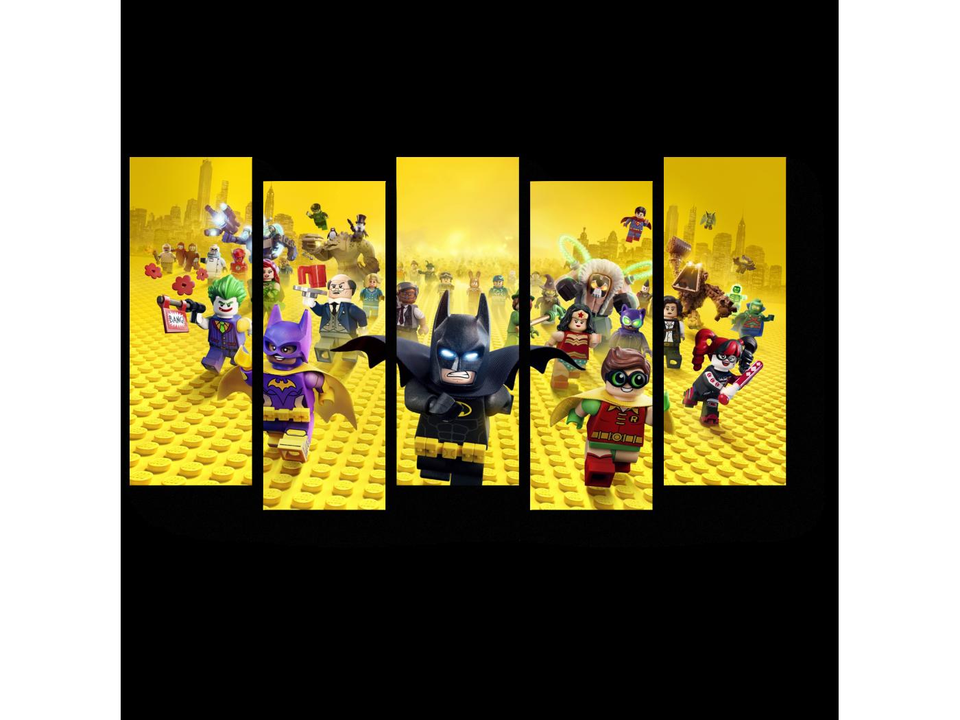 Модульная картина Лего - мир (90x52) фото