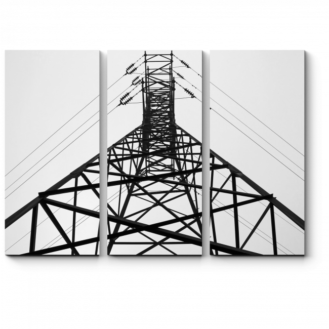 Модульная картина Высоковольтная башня
