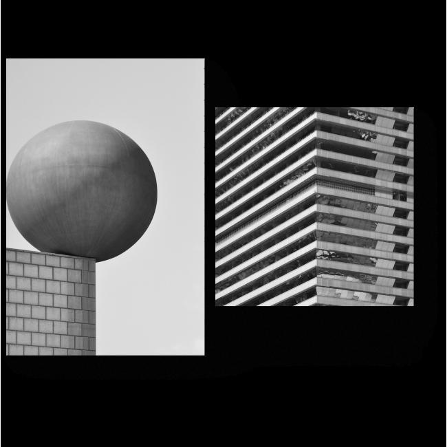Модульная картина Промышленная архитектура