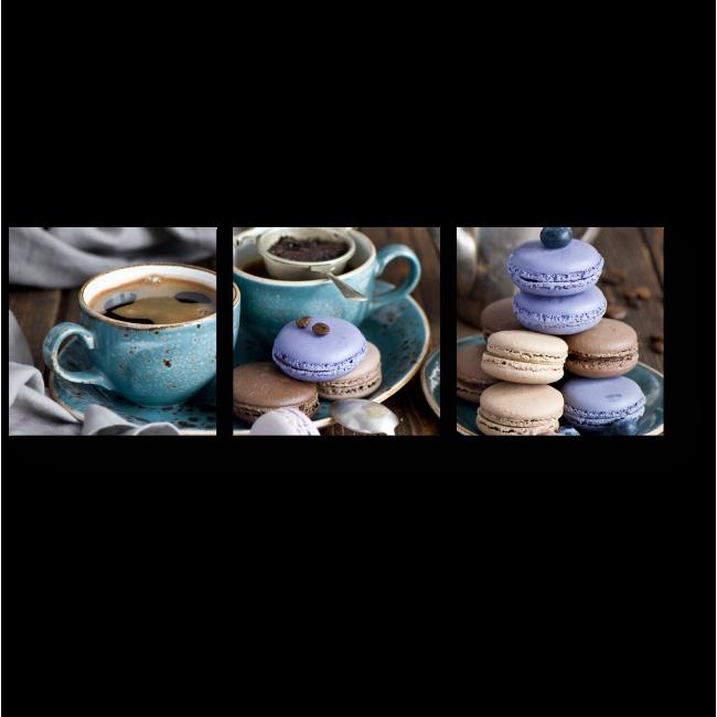 Модульная картина Кофе с Макарони