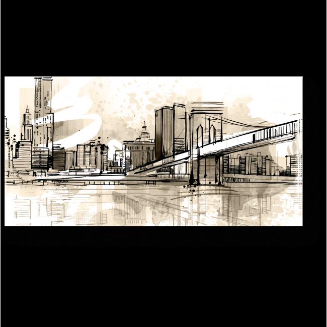 Модульная картина Винтажный мост