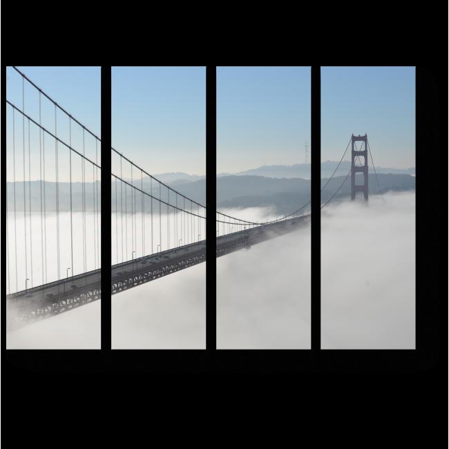 """Модульная картина Туман над мостом """"Золотые ворота"""""""