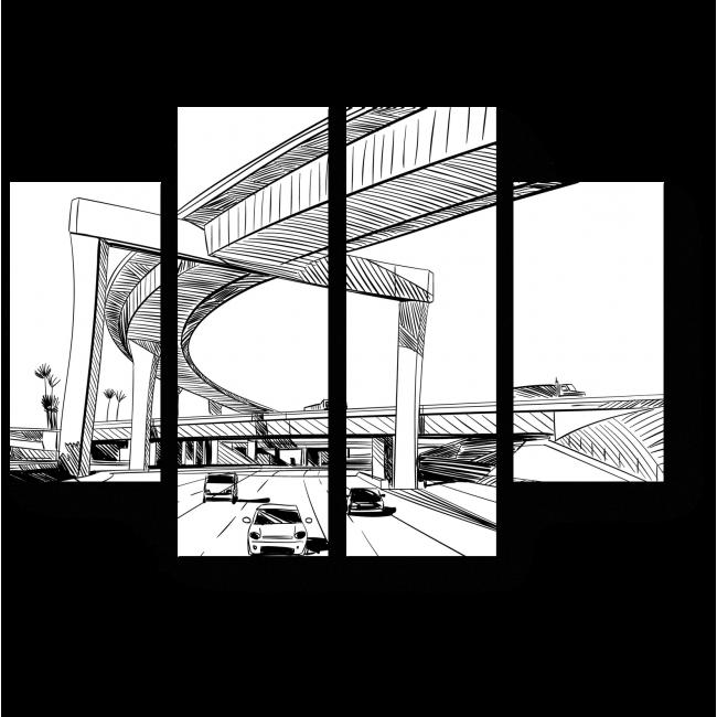 Модульная картина Дизайн моста