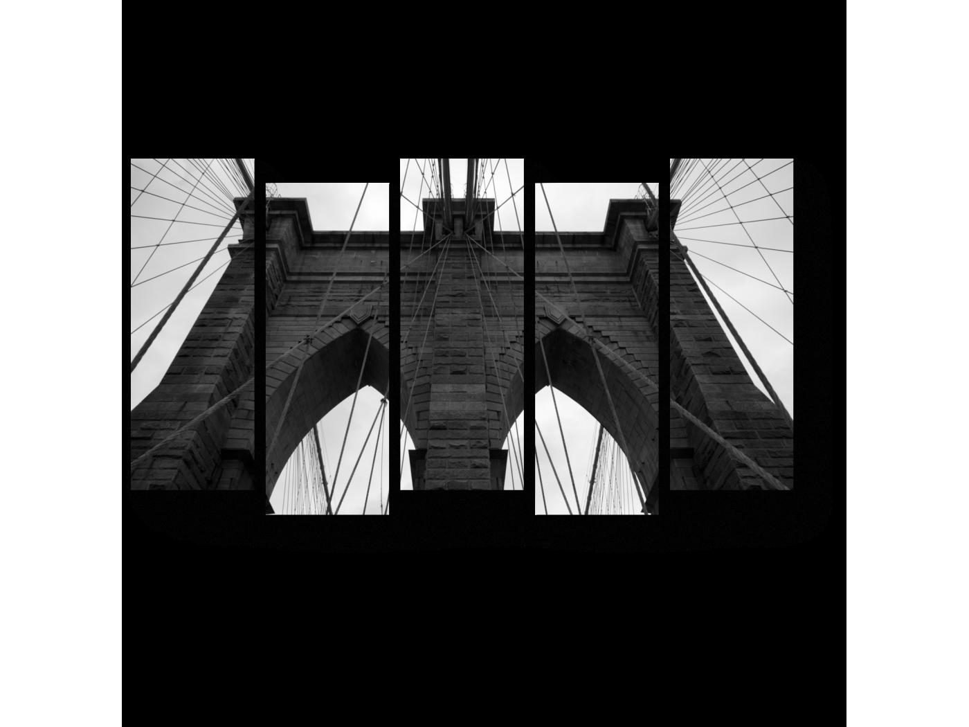 Модульная картина Мост в вечность (90x52) фото