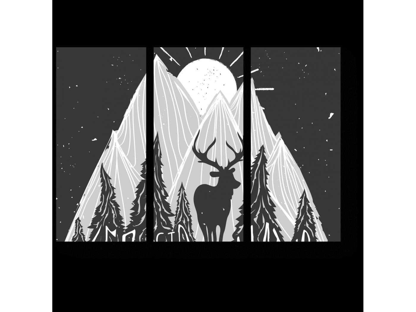Модульная картина Шаг навстречу природе (60x43) фото
