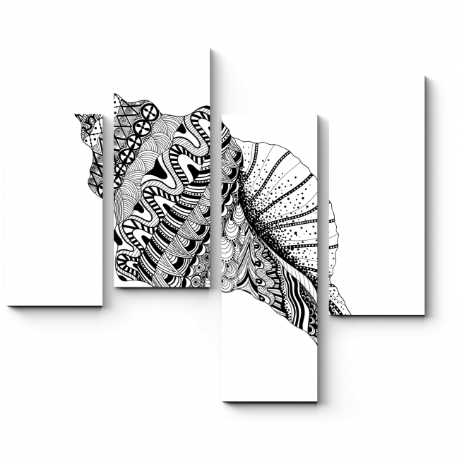 Модульная картина Морские узоры