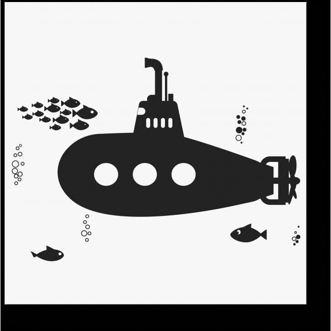 Модульная картина Подводная лодка