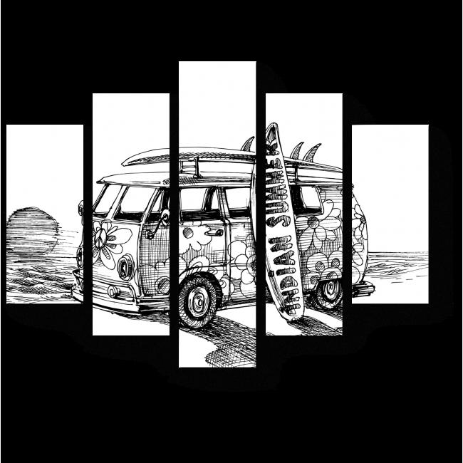 Модульная картина Пляжный отдых