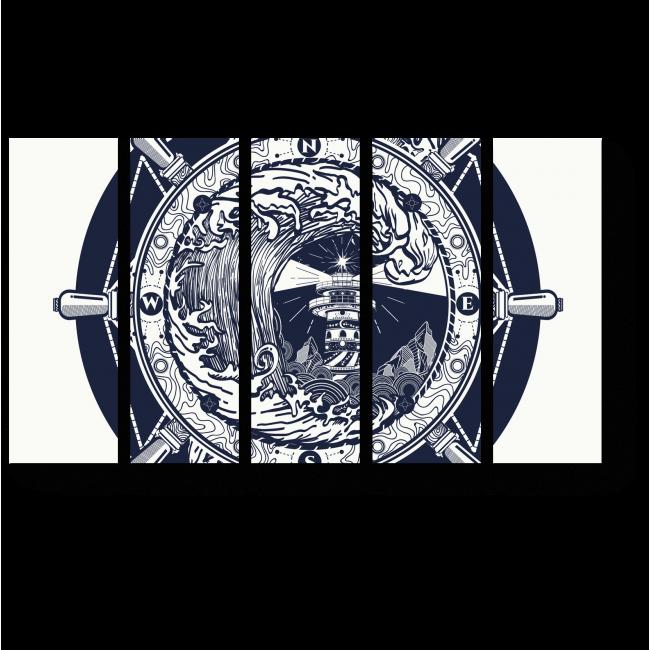 Модульная картина Морской талисман