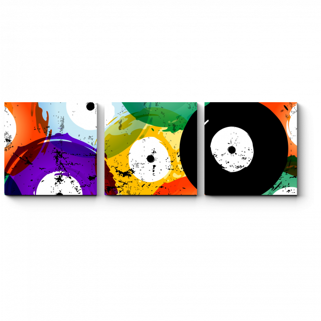 Модульная картина Разноцветный винил