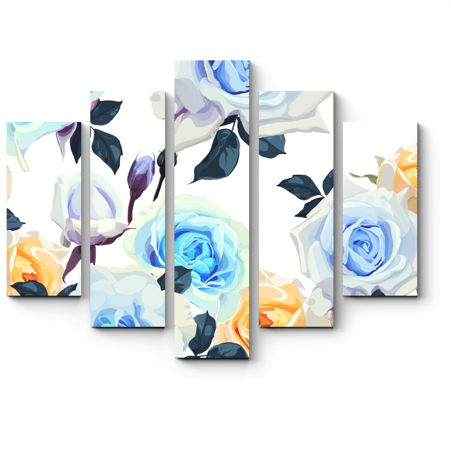 Модульная картина Сад роз
