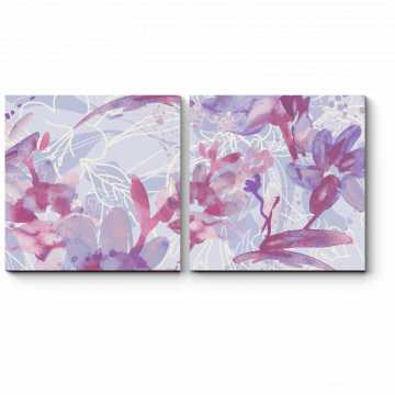 Модульная картина Нежные весенние цветы