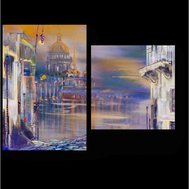 Модульная картина Белые ночи Санкт-Петербурга