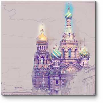 Модульная картина Спас на Крови, Санкт-Петербург