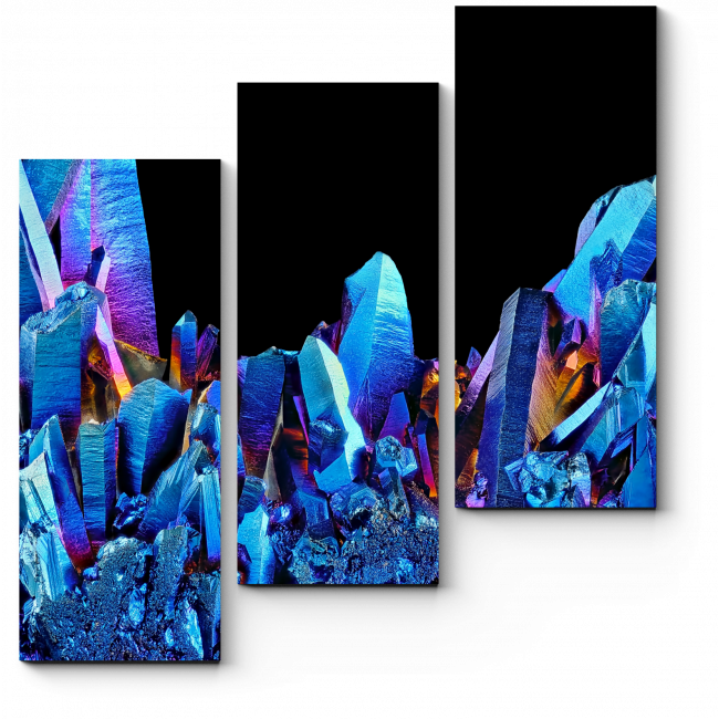 Модульная картина Радужный кварц