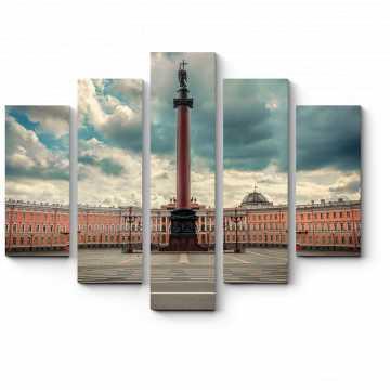 Модульная картина Александровская колонна на Дворцовой площади
