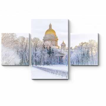 Модульная картина Исаакиевский Собор зимой, Санкт-Петербург
