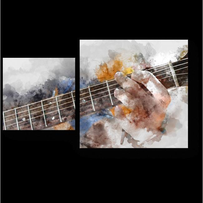 Модульная картина Гитарист