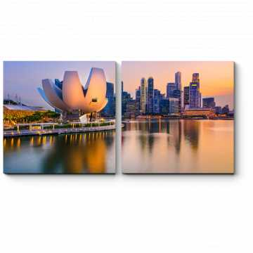 Модульная картина Небоскребы Сингапура