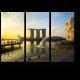 Мерлайон на рассвете, Сингапур