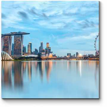 Огни ночного Сингапура