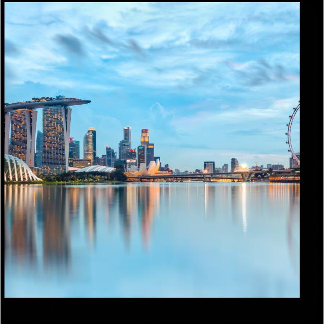 Модульная картина Огни ночного Сингапура